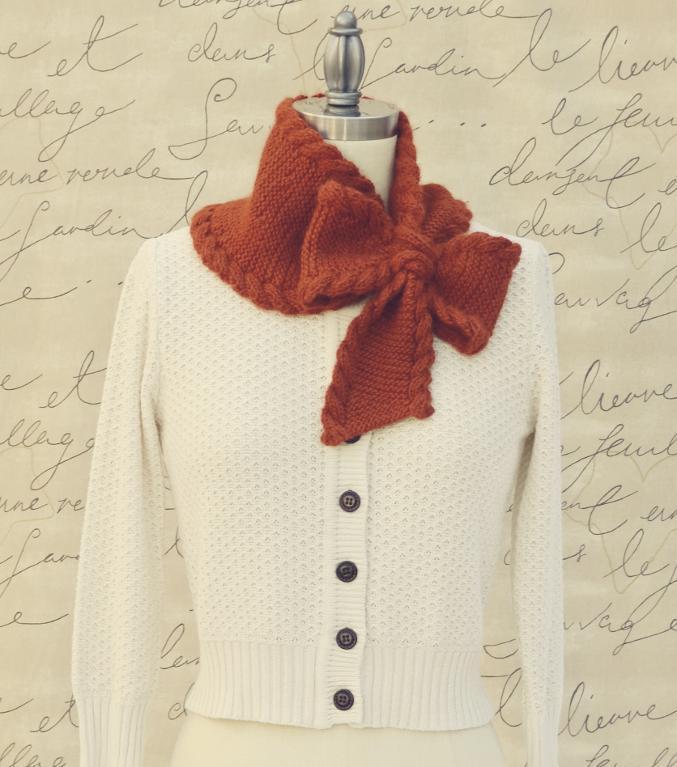 Bow Tie Ascot knitting pattern