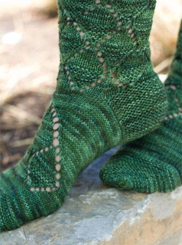 Live Oak Socks knitting pattern