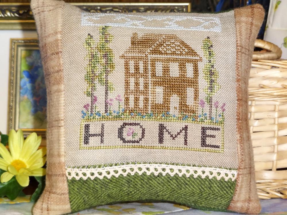 Shaker House Garden CrossStitch