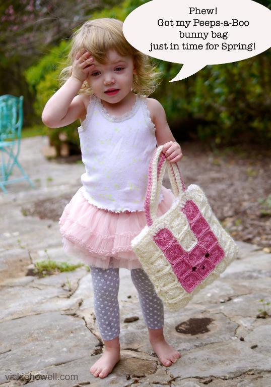 Peeps-a-Boo Crochet Bunny Bag free pattern