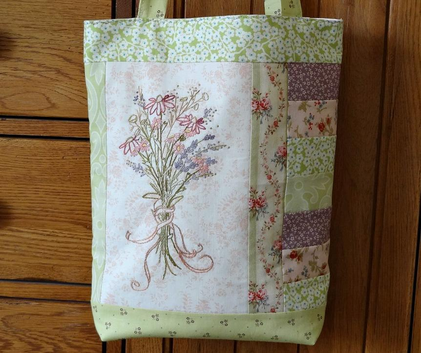 Wildflower Hand Embroidery Tote Tutoriall