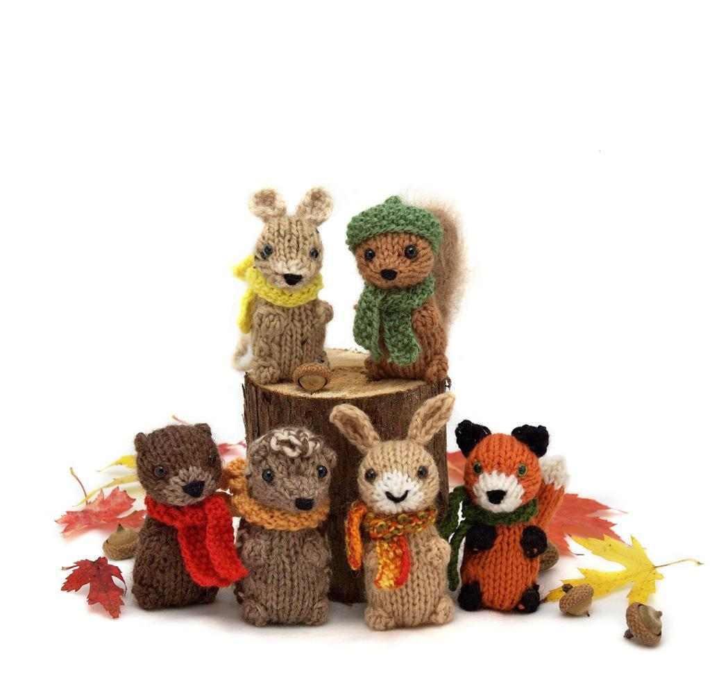 Wee Woodland Wuzzies knitting pattern