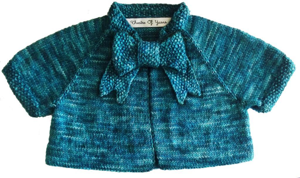 Button Bow Baby knitting pattern