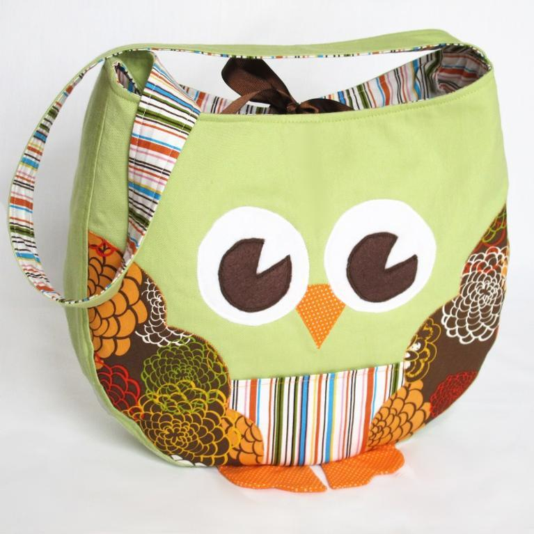 Funky Little Owl Bag sewing patten