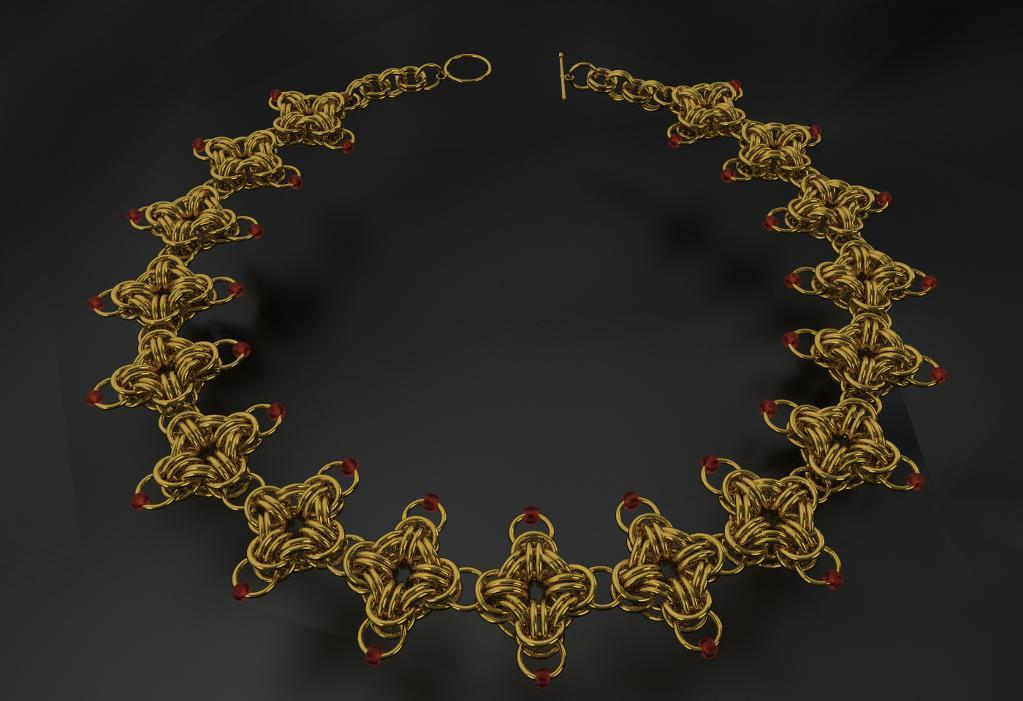 Chainmaille Square Necklace pattern