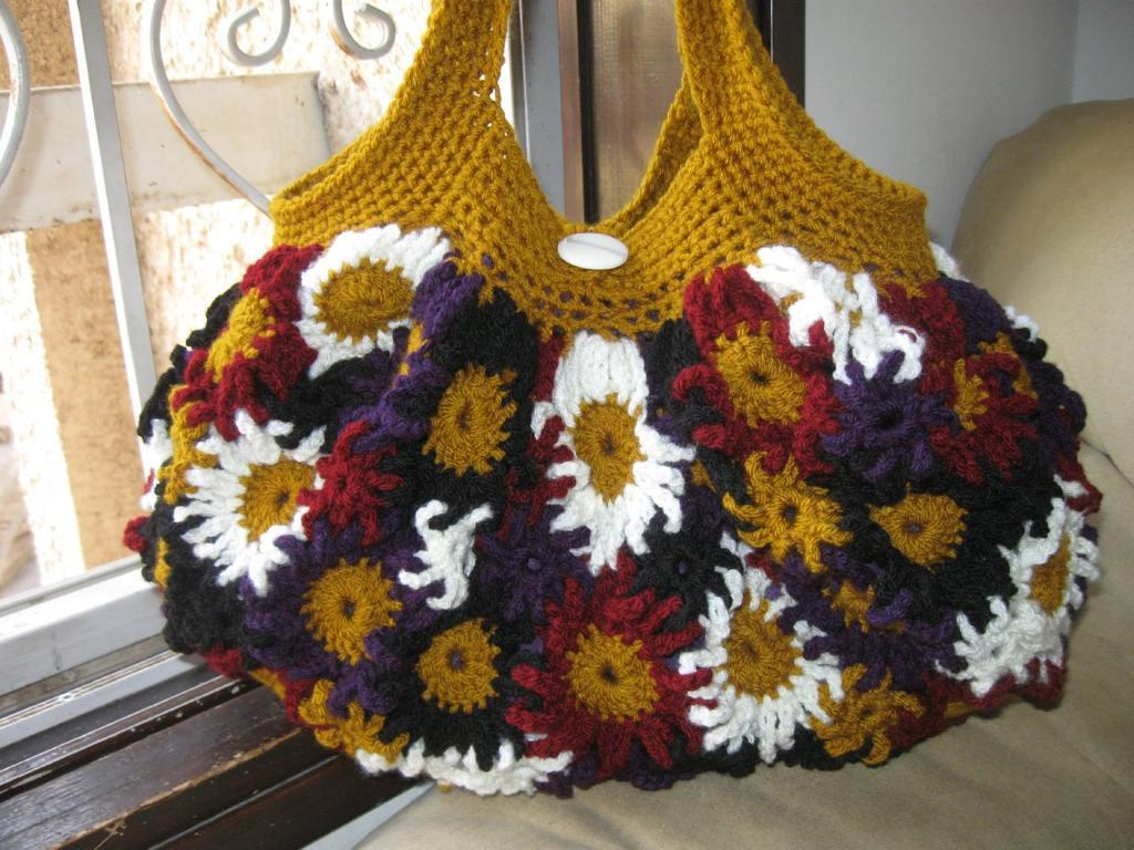 Crocheted Flower Purse free pattern