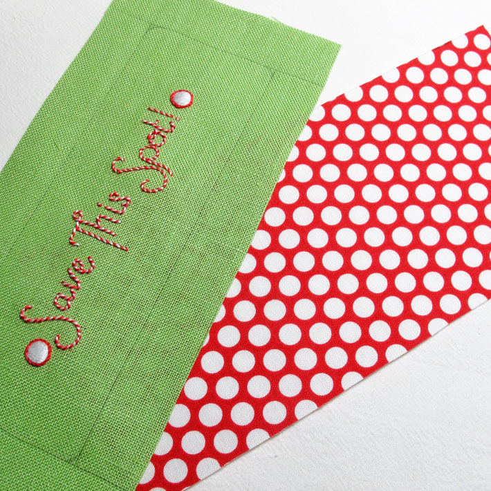 trimming fabric before assembling the bookmark