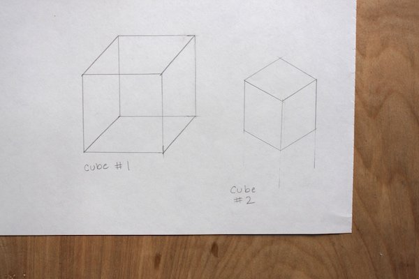 how to draw cube
