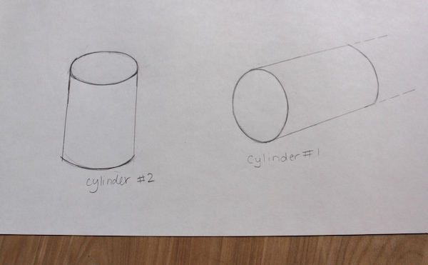 drawing a cylinder part 2