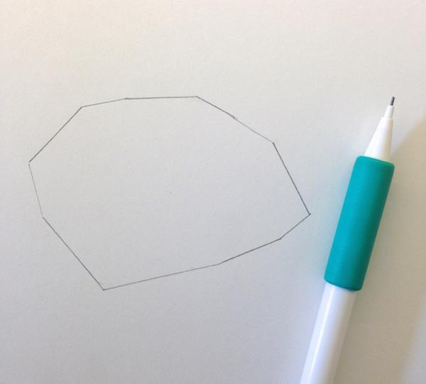 outline of a 3d shape