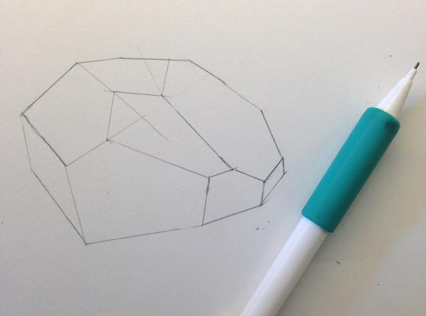 outline of a 3d shape - progress