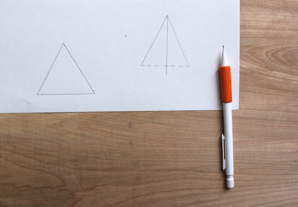 how to draw a 3d triangle