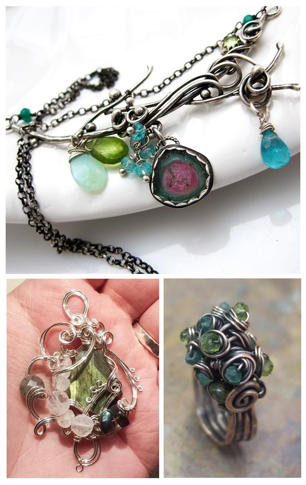 Mixed Green Stone Jewelry