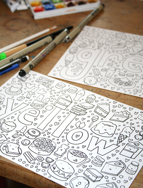 Make Your Own Coloring Book: FREE Tutorial