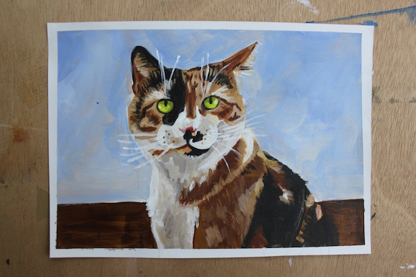 Painting animal in acrylic - finish