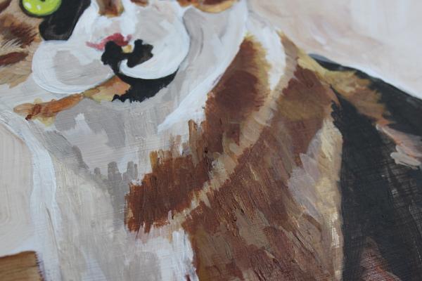 Painting animal in acrylic - fur