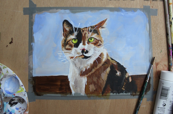 Painting animal in acrylic - finished