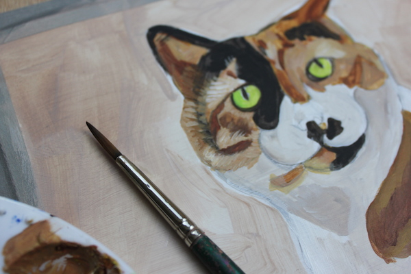 Painting animal in acrylic - fur detail
