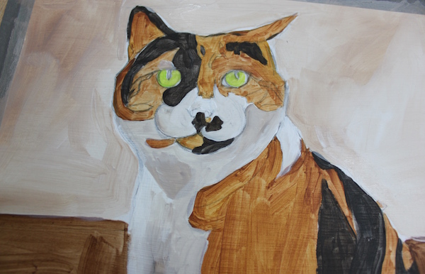 Painting animal in acrylic - detail