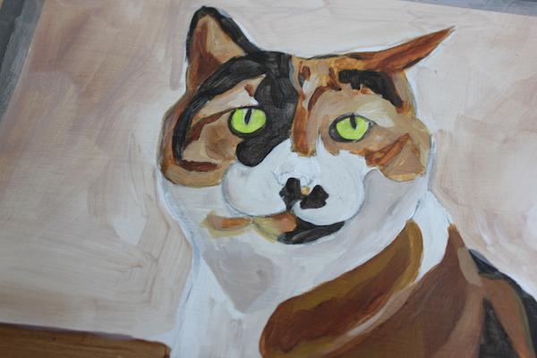 Painting animal in acrylic - layer 2