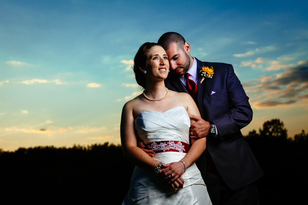 photo of couple taken with one Profoto B1 and a small umbrella