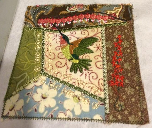 rocker crazy quilt block