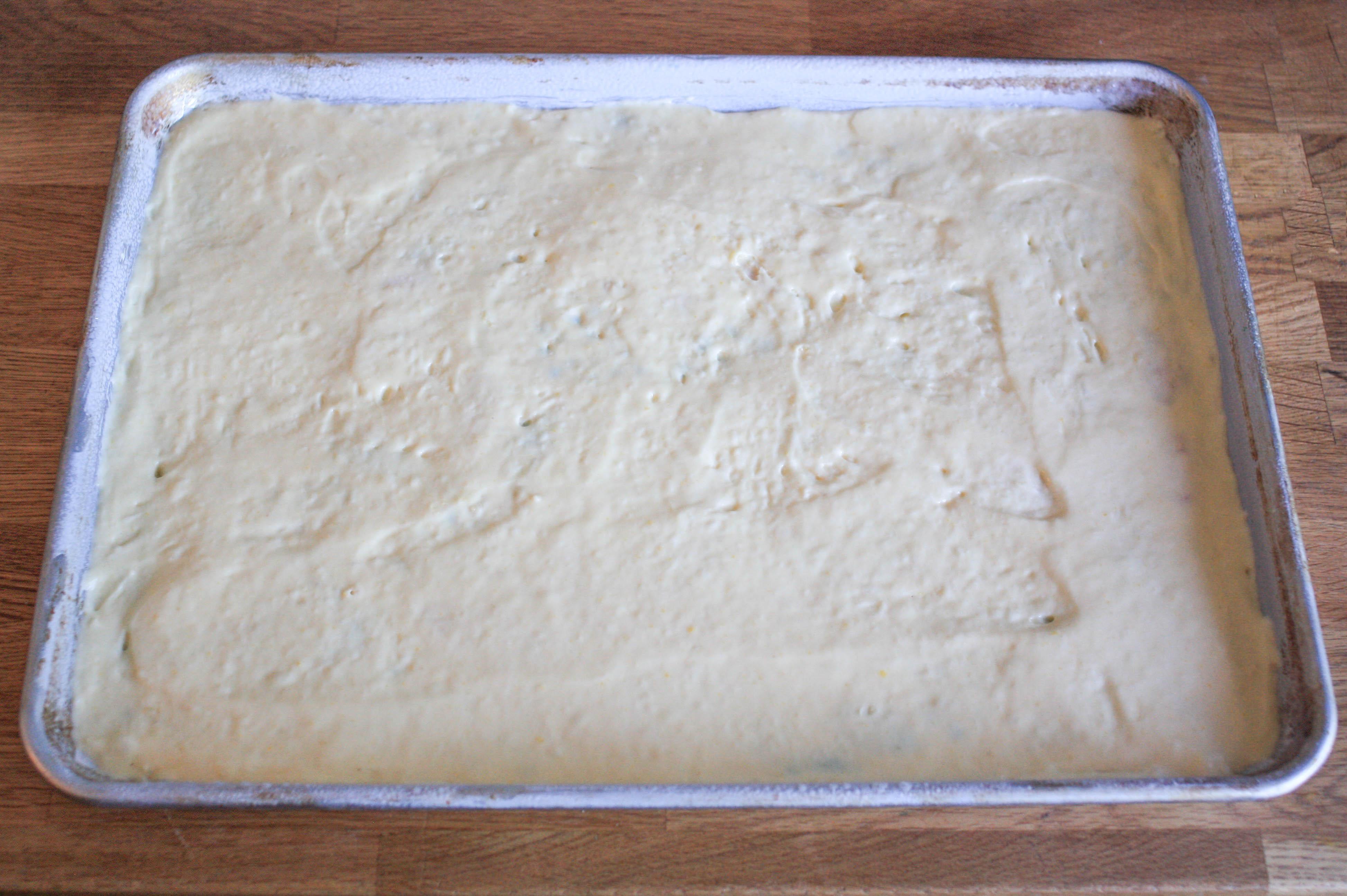 Adding Sponge Cake Batter Over The Design | Erin Gardner | Bluprint