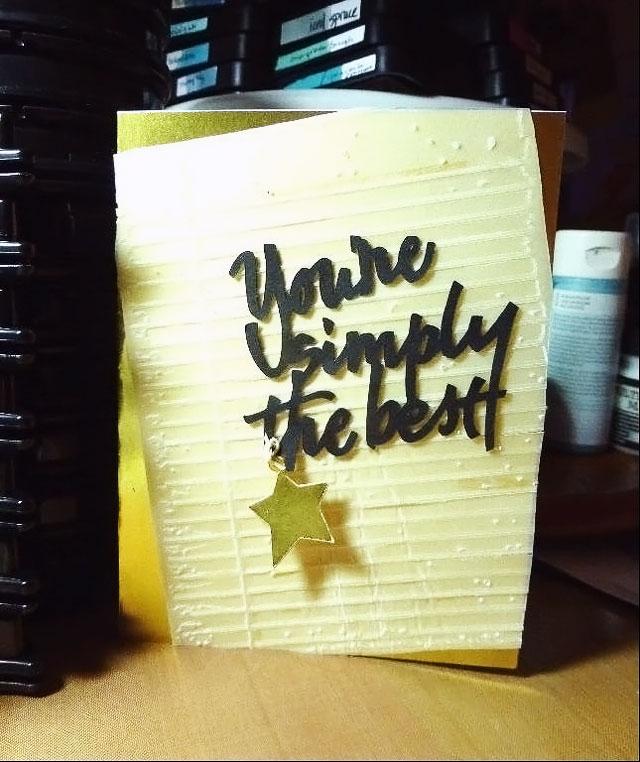 Simply the Best Handmade Card