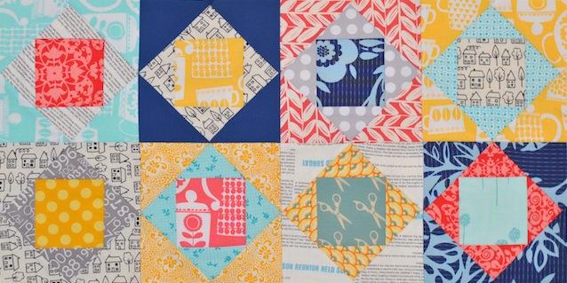 Square-in-square Paper Pieced quilt block