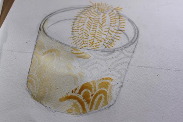 watercolor wax tutorial