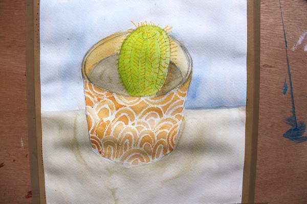 watercolor wax tutorial layer 1