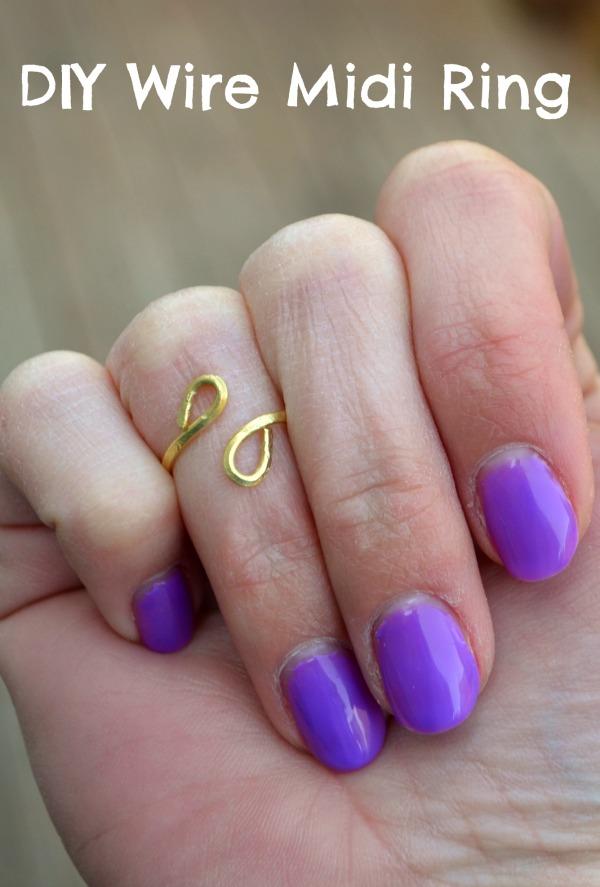 DIY Wire Midi Ring