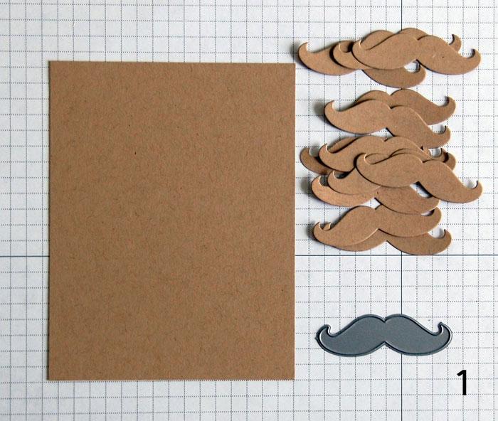 Step 1 Faux Embossing - Cut die-cut shapes