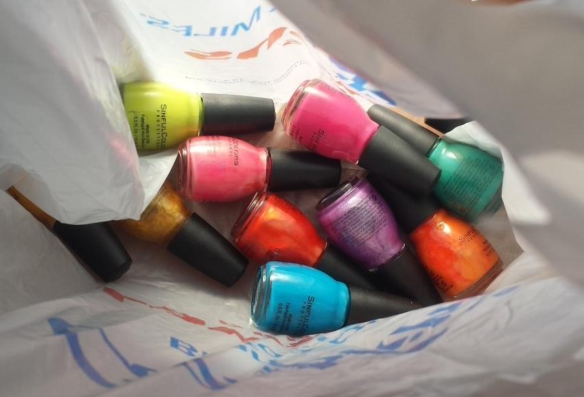 Bag of nail polish