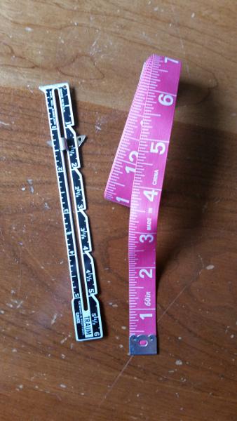 sewing gauge & measuring tape