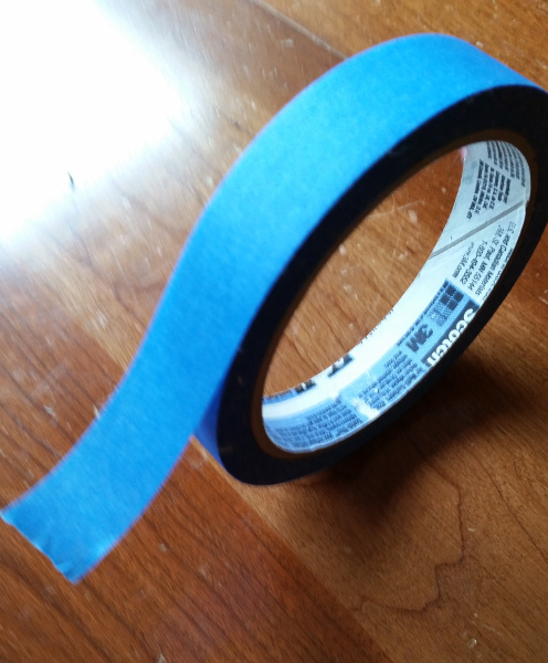 blue painters tape 3/4 inches wide
