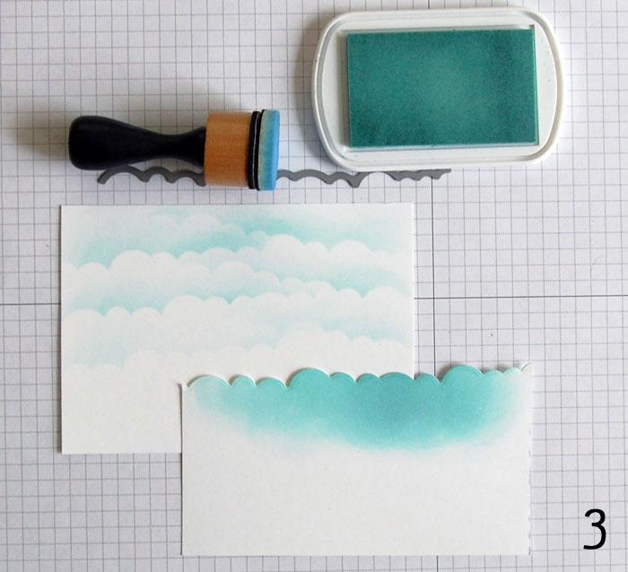 Continued sponging of sky