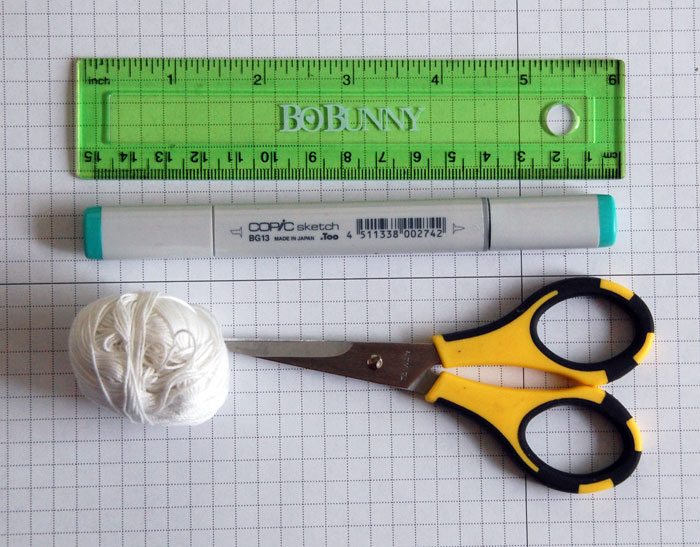 Supplies for creating DIY baker's twine