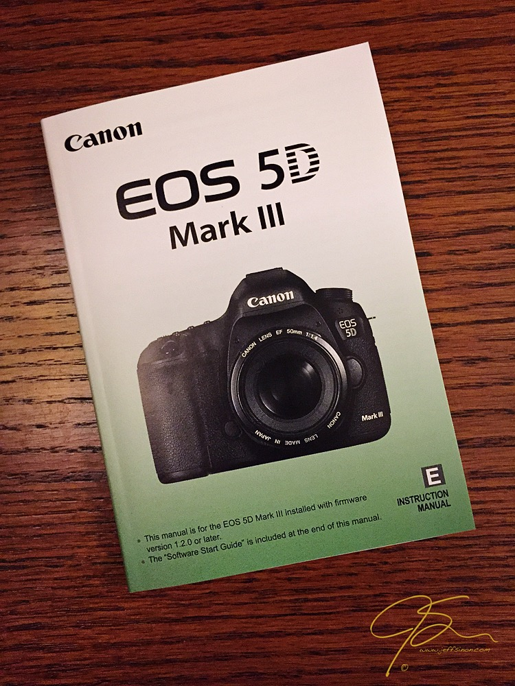 Canon 5D MkIII Owners Manual