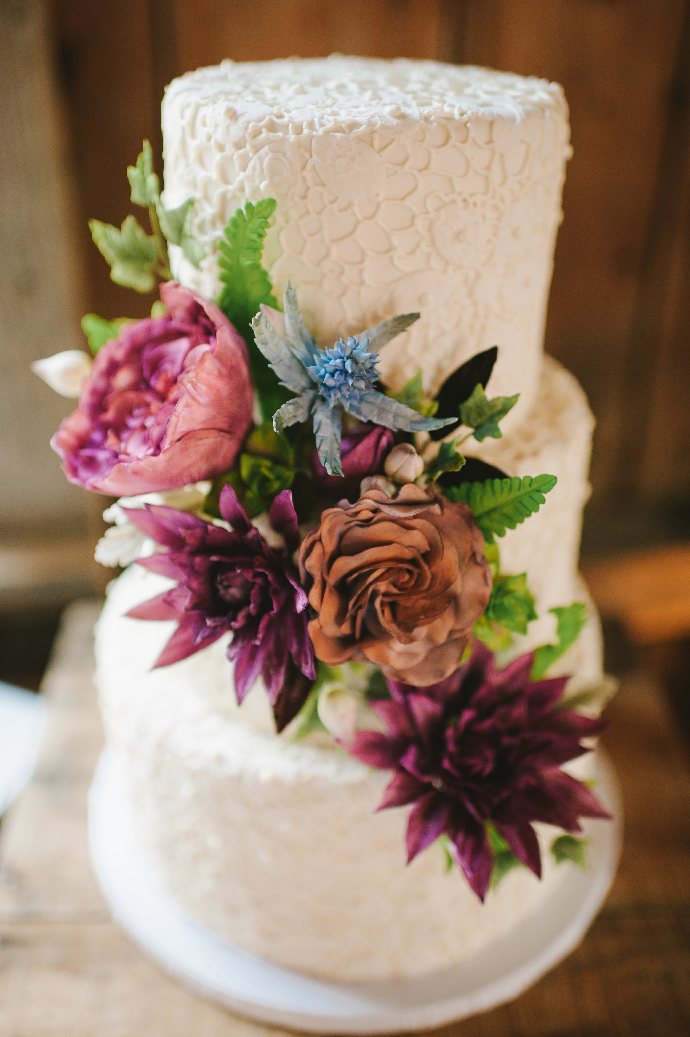 Cake via Erin Gardner | Filler Flowers | Bluprint