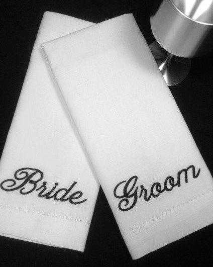 Bride Groom Wedding towels