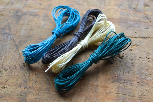 Waxed linen cording