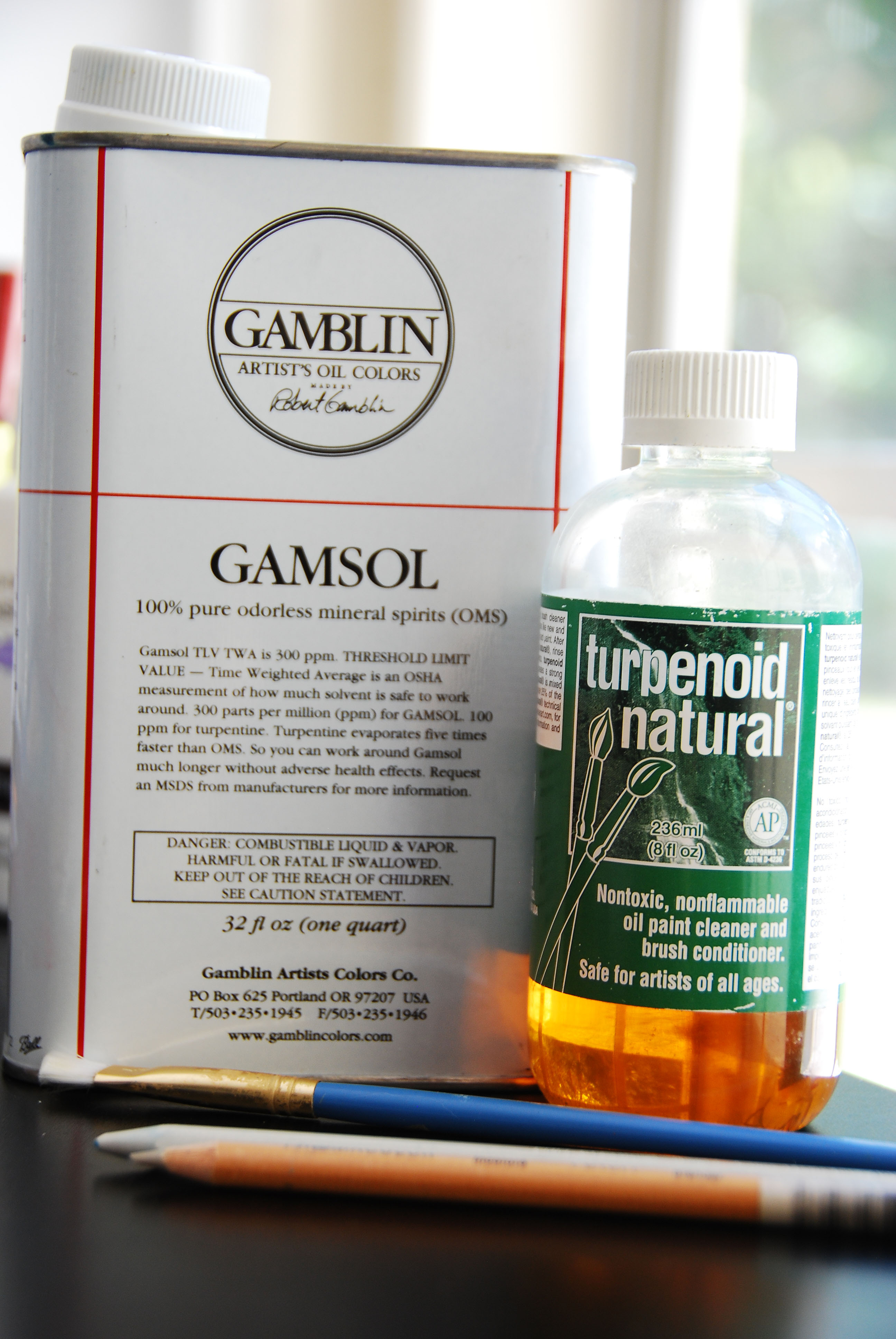 Gamsol and Turpenoid Solvents for Colored Pencil