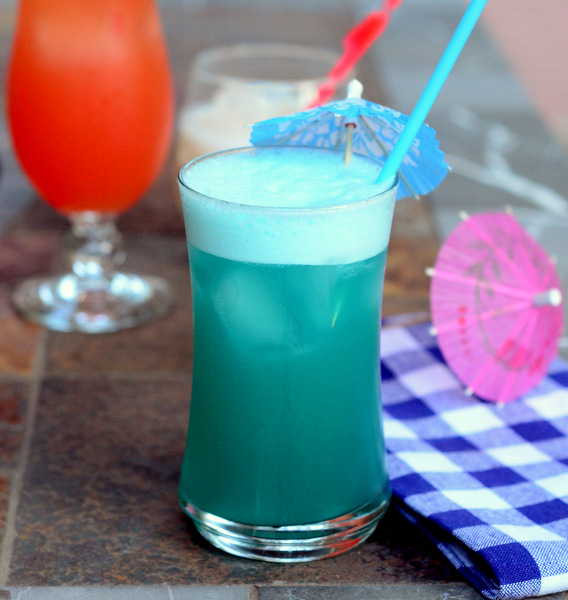 Blue Hawaiian Cocktail for Fourth of July