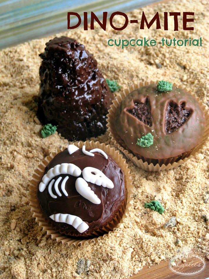 Dino-mite cupcake tutorial