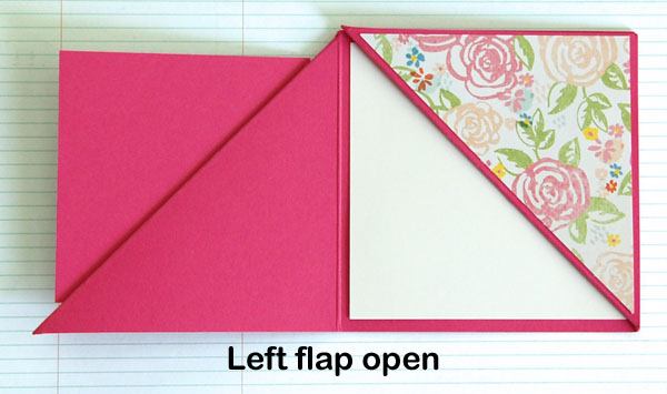 Finished card, left flap open