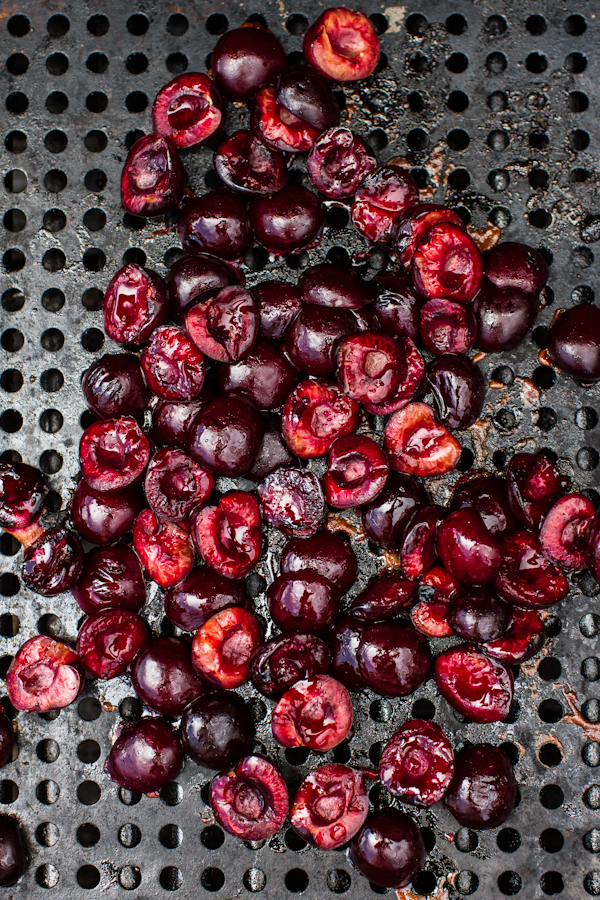 Grilled Cherries for Milkshakes