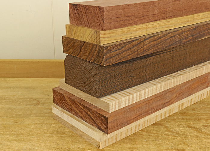 stacks of different types of wood