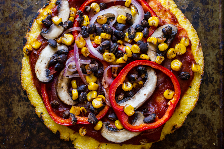 Grilled Polenta Pizzas