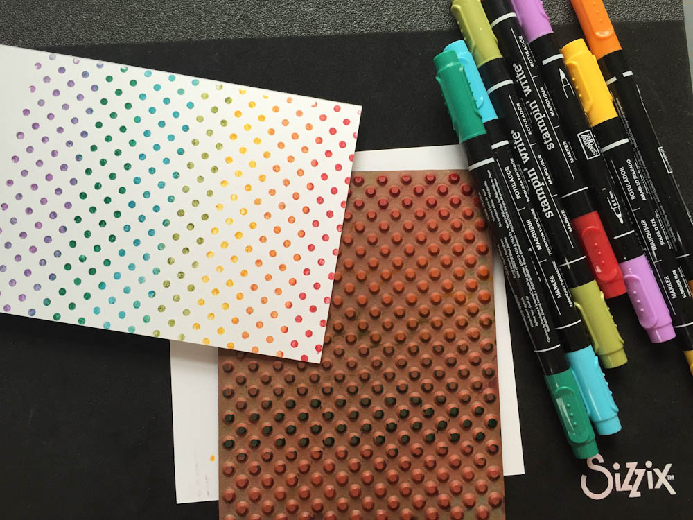 Supplies for DIY rainbow cards